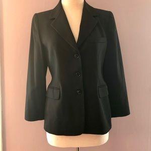 EUC Ellen Tracy Black Tailored Blazer Petite